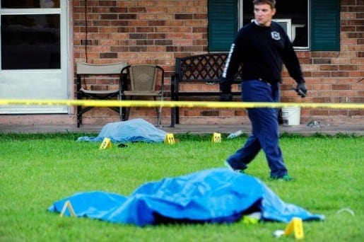 Sunset Woman Stabbed and Policeman Shot
